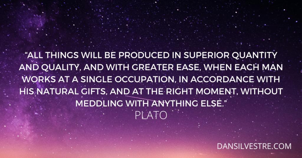Plato productivity quote