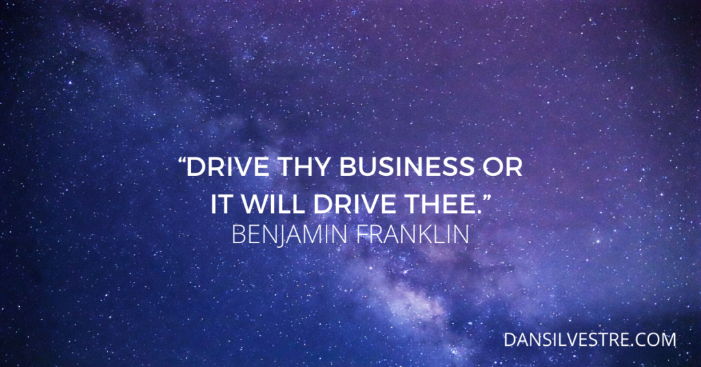 Benjamin Franklin time management quote