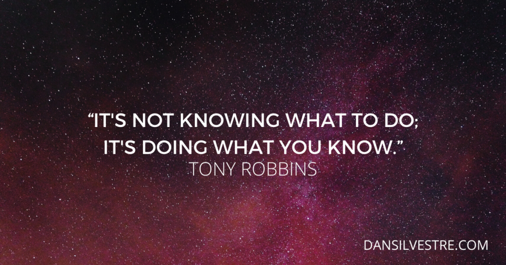 Tony Robbins inspirational quote