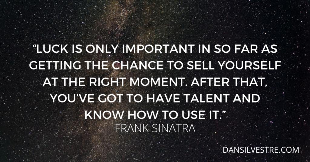 Frank Sinatra motivational quote