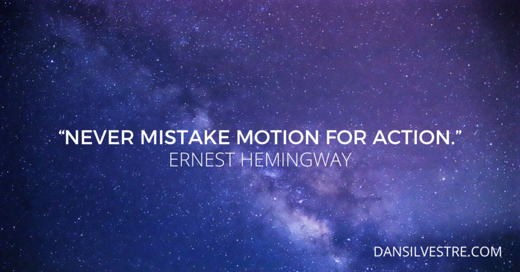 Ernest Hemingway personal productivity quote
