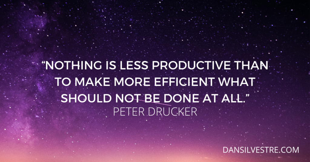 Peter Drucker personal productivity quote