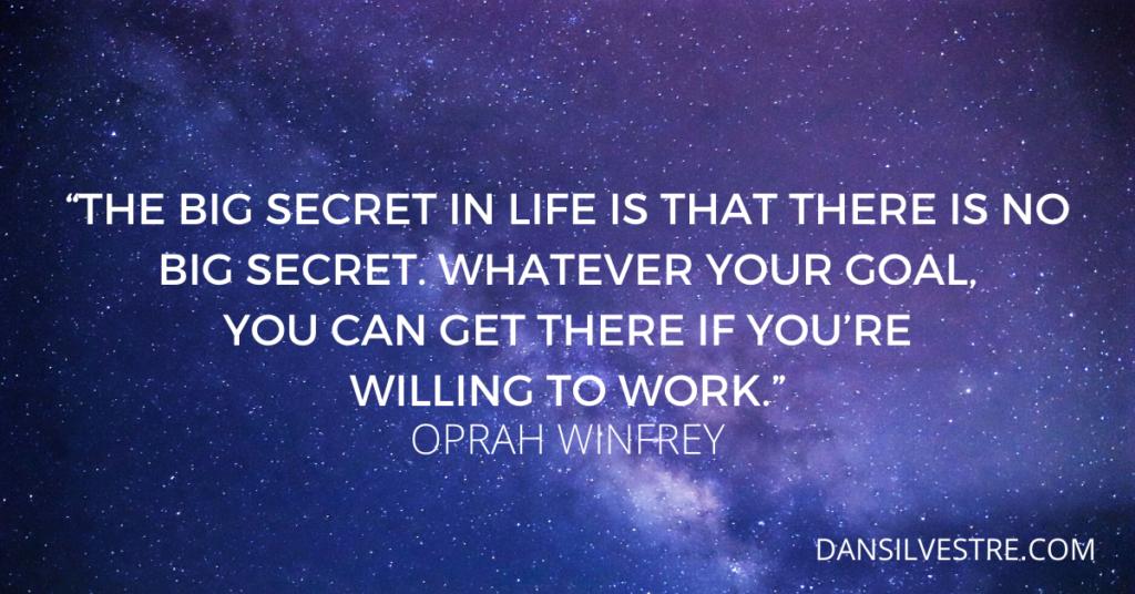 Oprah Winfrey quote on goals
