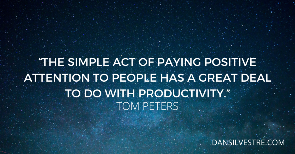 Tom Peters personal productivity quote