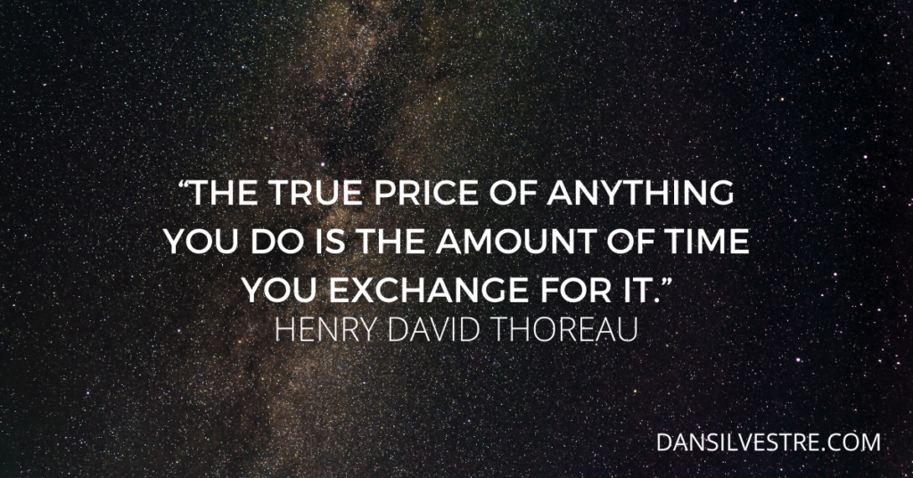 Henry David Thoreau time management quote
