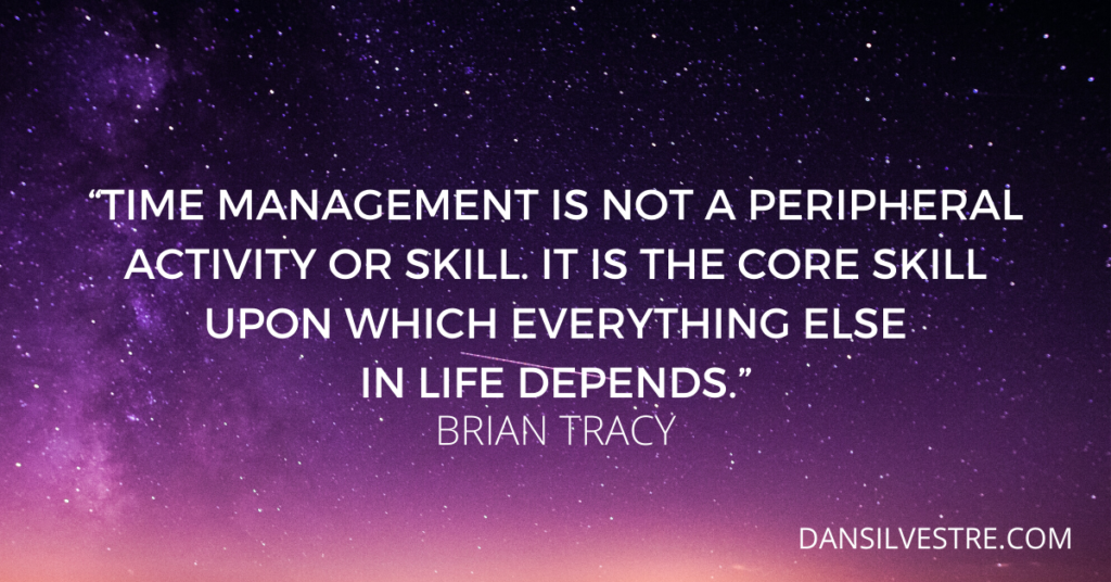 Brian Tracy time management quote
