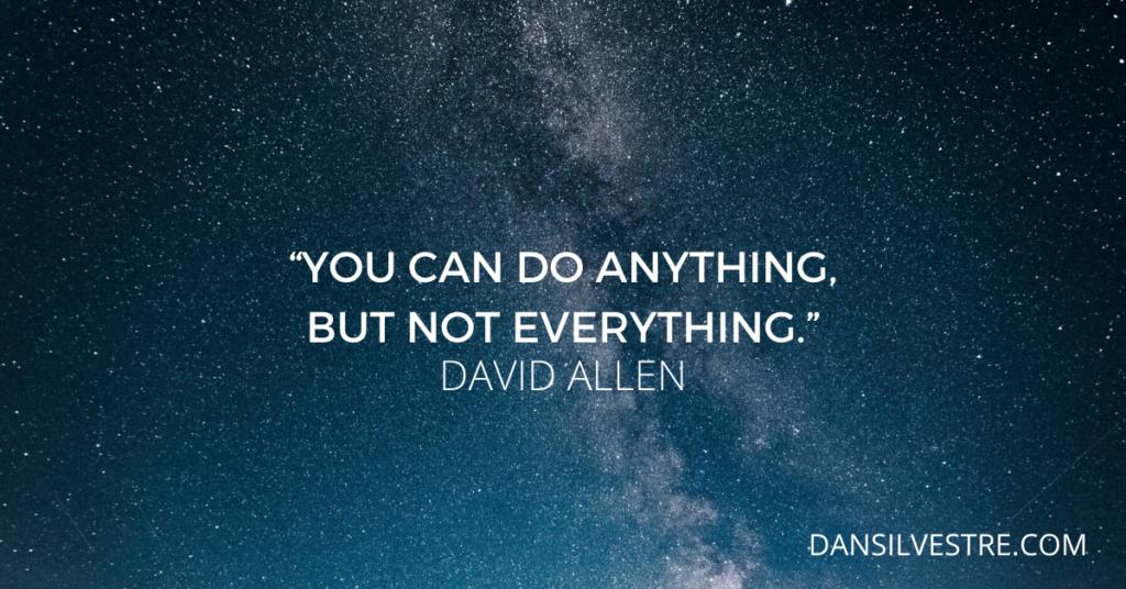 David Allen personal productivity quote