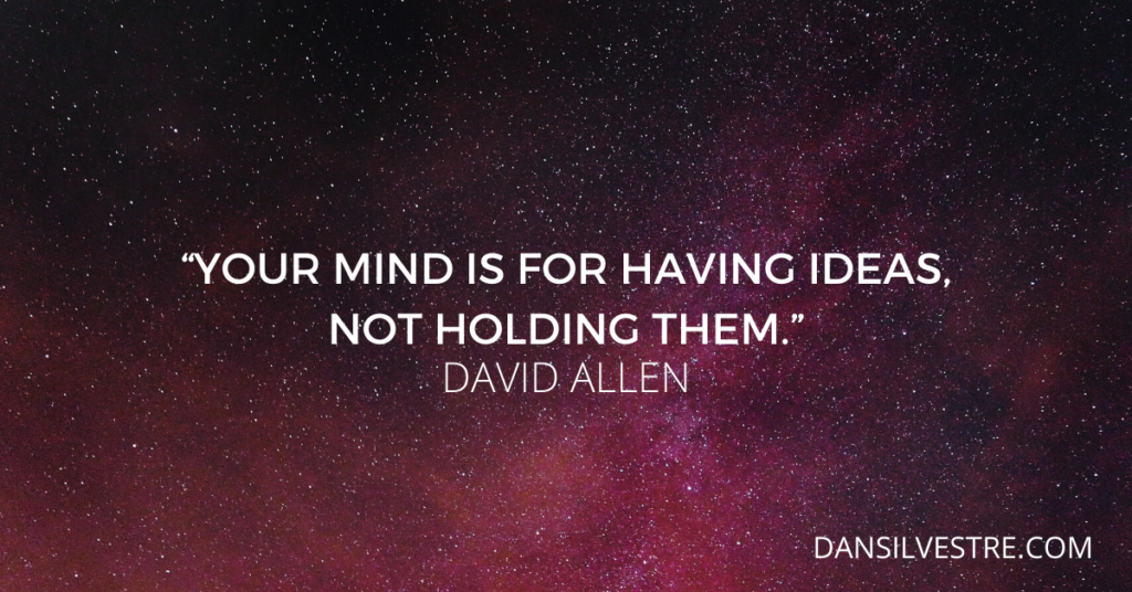 David Allen getting things done quote