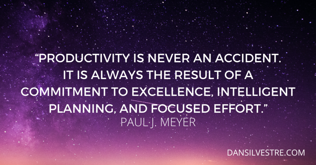 Paul J. Meyer productivity quote