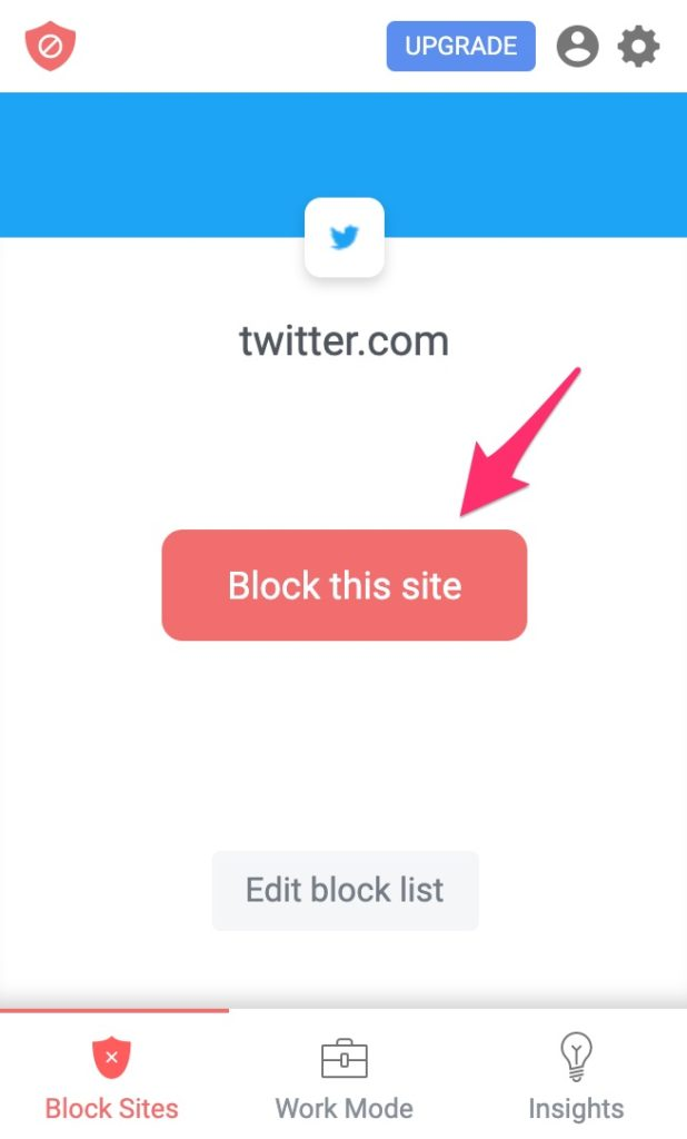 blocksite block this site