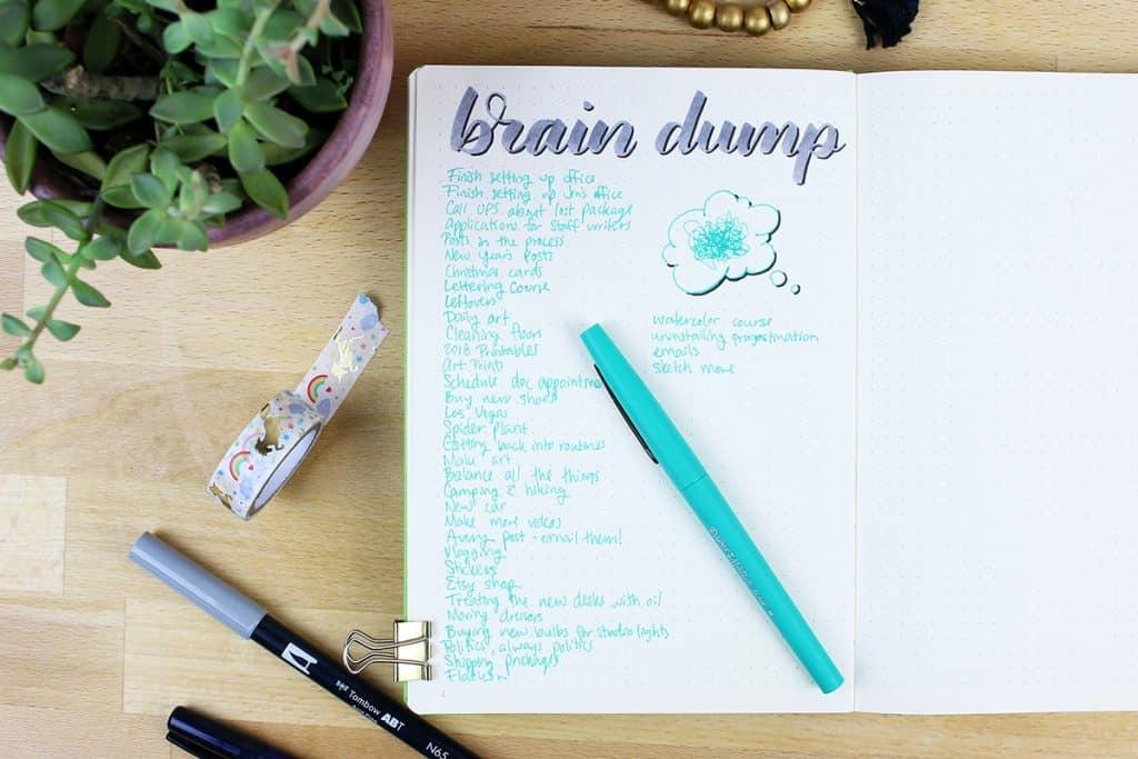 brain dump benefits