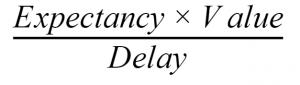 The procrastination equation - Matching Law